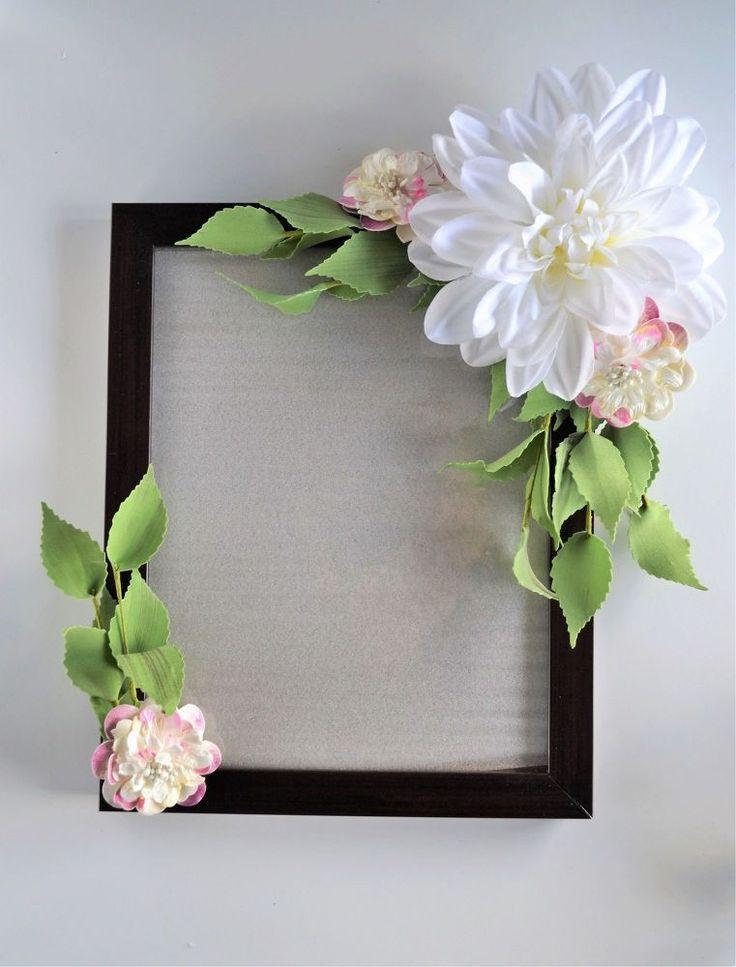 Diy flower frame in 2020 flower frame diy flowers
