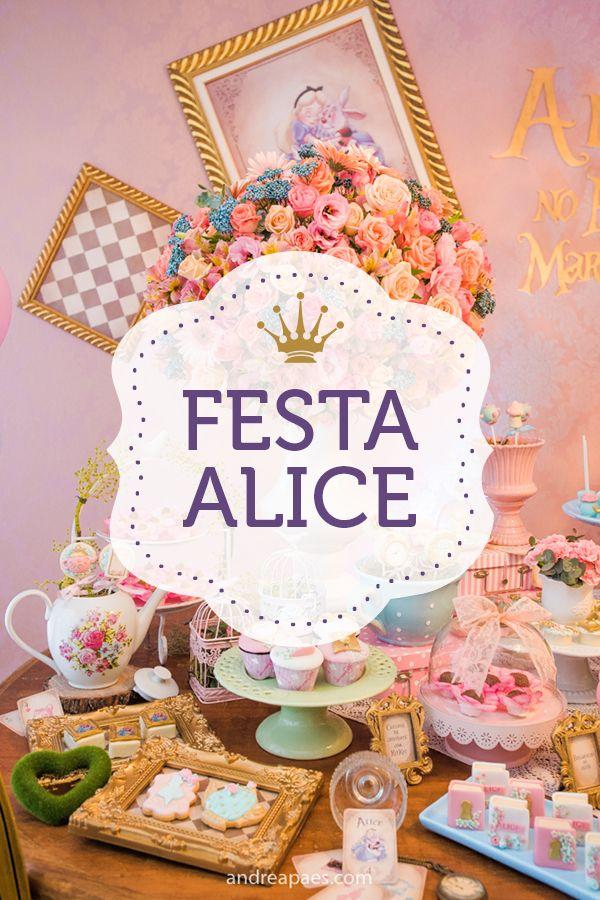 Festa No Tema Alice No Pais Das Maravilhas Decoradas Pela Pequenos