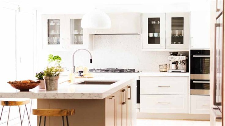 In Pictures: Jess + Ayden's 'stylish' kitchen | The Block Triple Threat | 9Jumpin