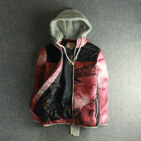 Внутренние средства детской одежды в длинный раздел с капюшоном куртки детей осенью и зимой плюс толстый бархат пальто большой девственный хлопка