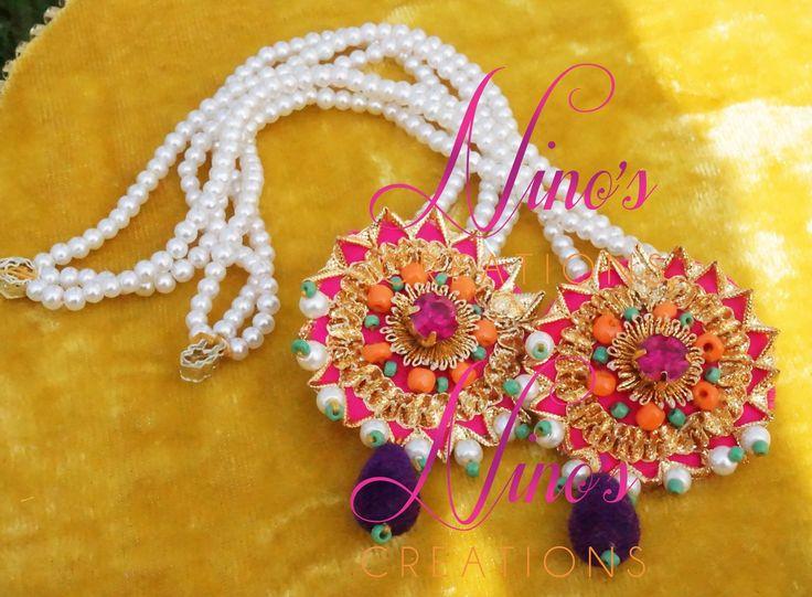 #earrings #jhumkay # studs #beads # pakistani wedding #mehndi brides #indian wedding https://www.facebook.com/pages/Ninos-creations/123853704344831