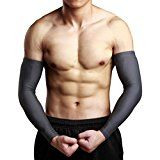 Elevin(TM)Mens Driving Activities Sun UV Protection Arm Cooling Sleeve Warmers Cuffs Compression Gloves (M Gray)