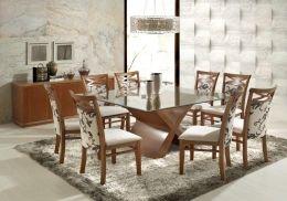 MESA COM 8 CADEIRAS - ATLAS QUADRADA - Sala de Jantar - Móveis - Produtos | Móveis Dumar