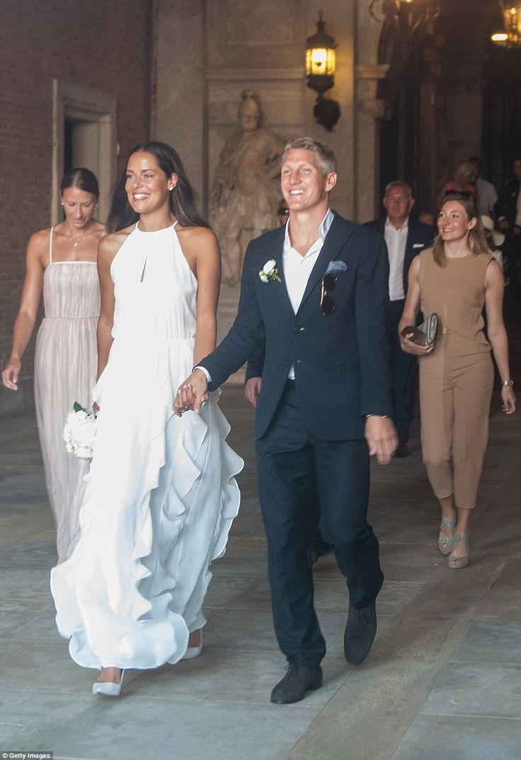 Ana Ivanovic Wows In Stunning Frilled Gown As She Marries Bastian