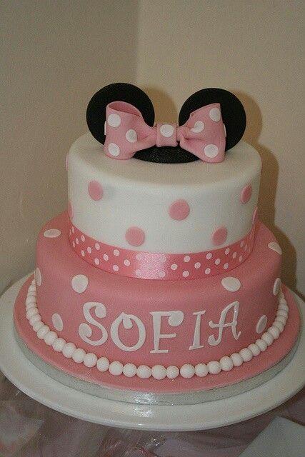 Torta rosa y blanco
