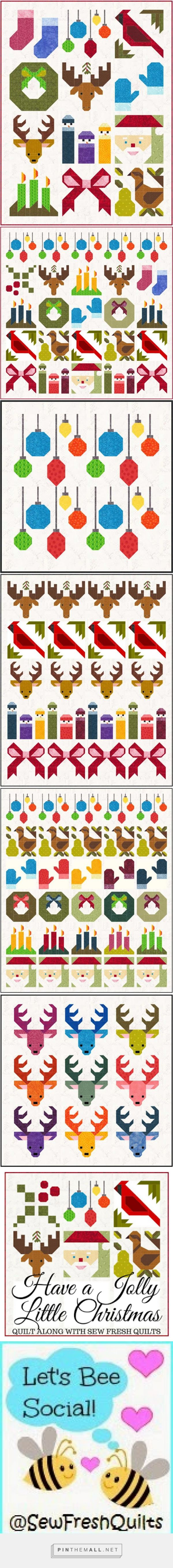 Sew Fresh Quilts: Have A Jolly Little Christmas - 2017 BOM Free Patterns... tune in to Sew Fresh Quilts beginning on January 13th, when the quilt size options and fabric requirements will be shared. Then, every 2 weeks beginning January 14th, instructions for all of the individual blocks will be shared...