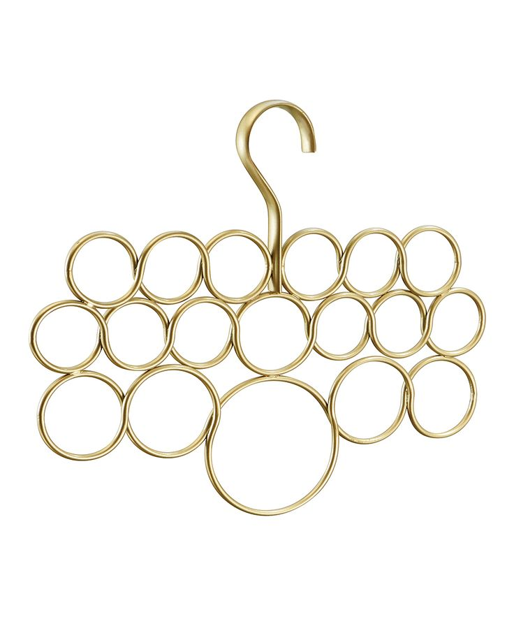 Pearl Gold 18-Loop Scarf Holder | zulily