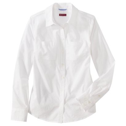 A crisp white long sleeve, collard, button down shirt can be worn with jeans (any color or pattern), slacks, skirts, layered over a dress (to give the appearance of a skirt, and top), and shorts. Wear it tucked in, untucked and loose, unrolled sleeves, or roll the sleeves up for a relaxed feel.