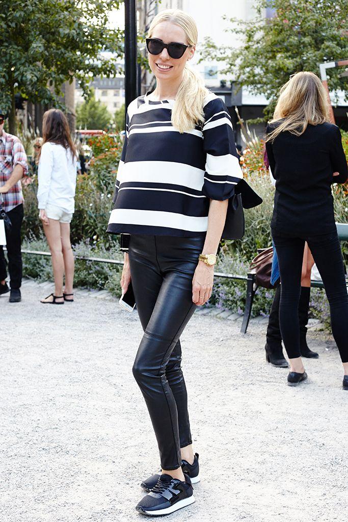 monochrome, black and white, sporty, stockholm fashion week