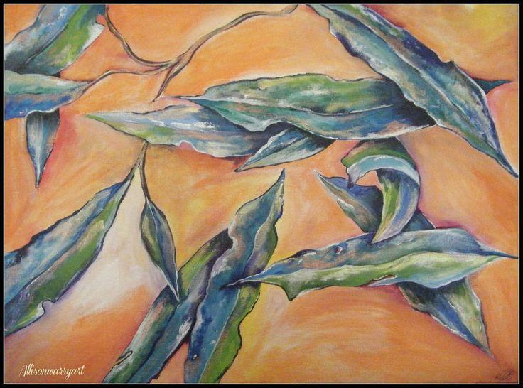 Acrylic on canvas board, AU$220.00