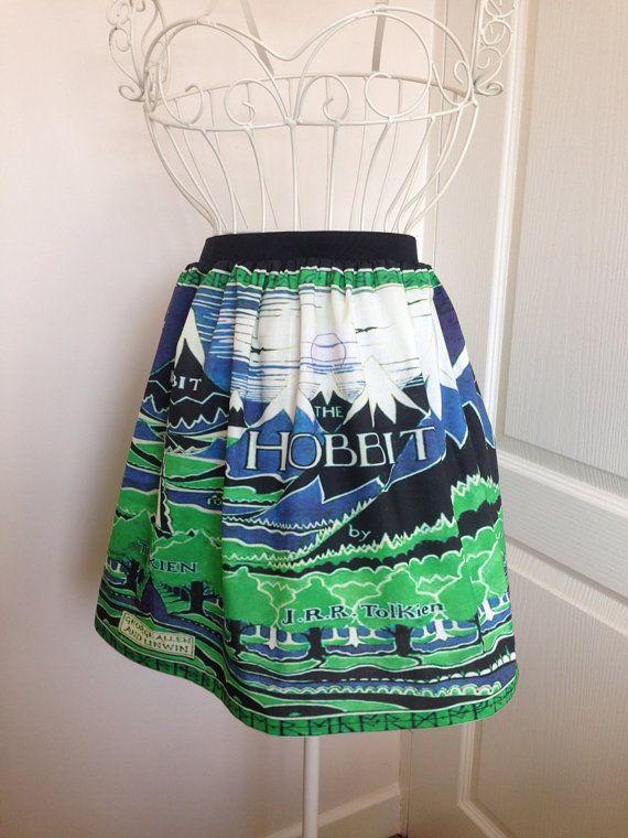 The Hobbit book cover inspired full skirt