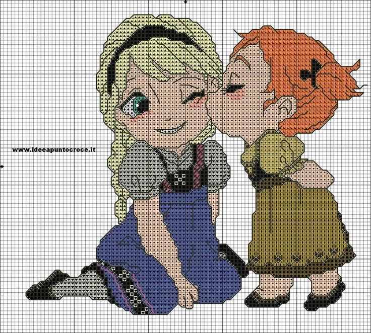 SCHEMA BABY ELSA E ANNA FROZEN