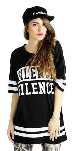 Koszulka oversize SILENCE czarna   MĘŻCZYŹNI \ Koszulki inne   Rockzone.pl - rockowy sklep internetowy
