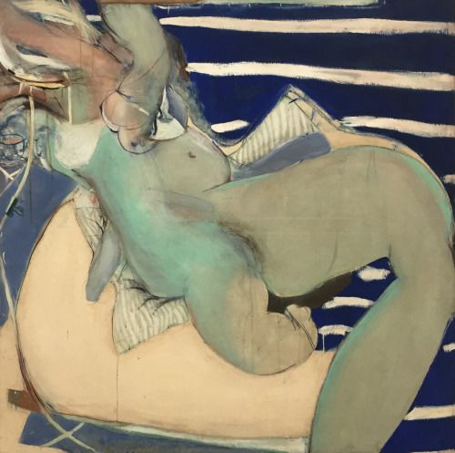"kundst: "" Brett Whiteley (Aus. 1939-1992) Kathleen Maloney taking gas (1964) Vienna: MUMOK """