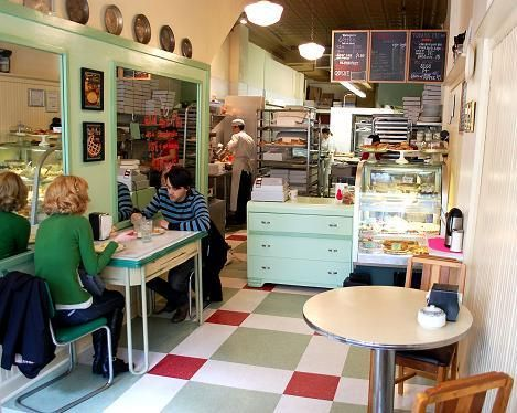 """""""Hoosier Mama Pies"""" in Chicago, Ill. LOVE the decor. Quaint and vintage."""