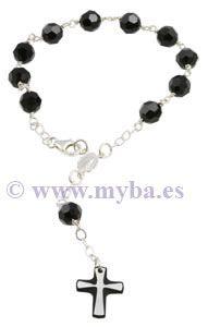 Cómo hacer rosarios con plata de ley, cristal swarovski y otras cuentas.