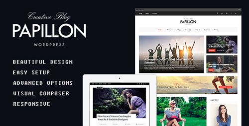 ThemeForest - Papillon v2.0.3 - Creative WordPress Blog Theme