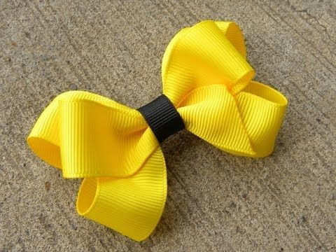 HOW TO: Make a Six Loop Boutique Hair Bow Tutorial by Just Add A Bow - YouTube- clear directions on how to layer the 3 loops