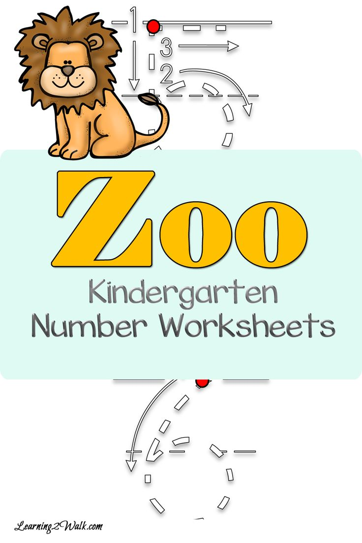 enjoy these zoo kindergarten number worksheets