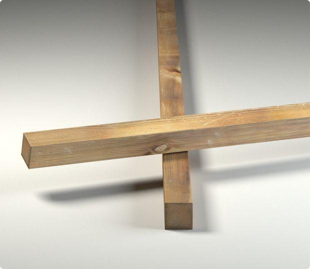 lambourde - terrasse bois - pin - chevron - solive