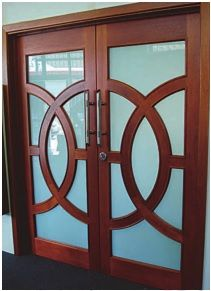 Trojan Timbers Olympic double entry doors make an impressive entry to your house