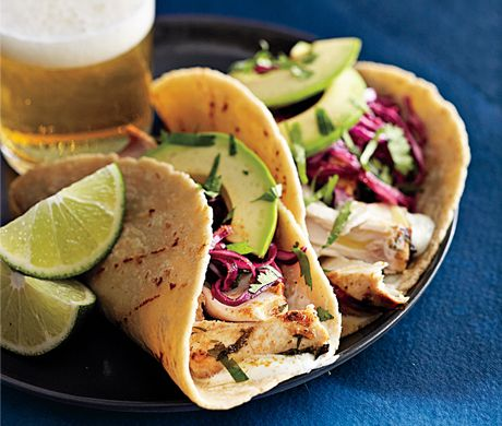 Tequila-Lime Mahimahi Tacos perfect company for mojitos! ahhh summer is here!