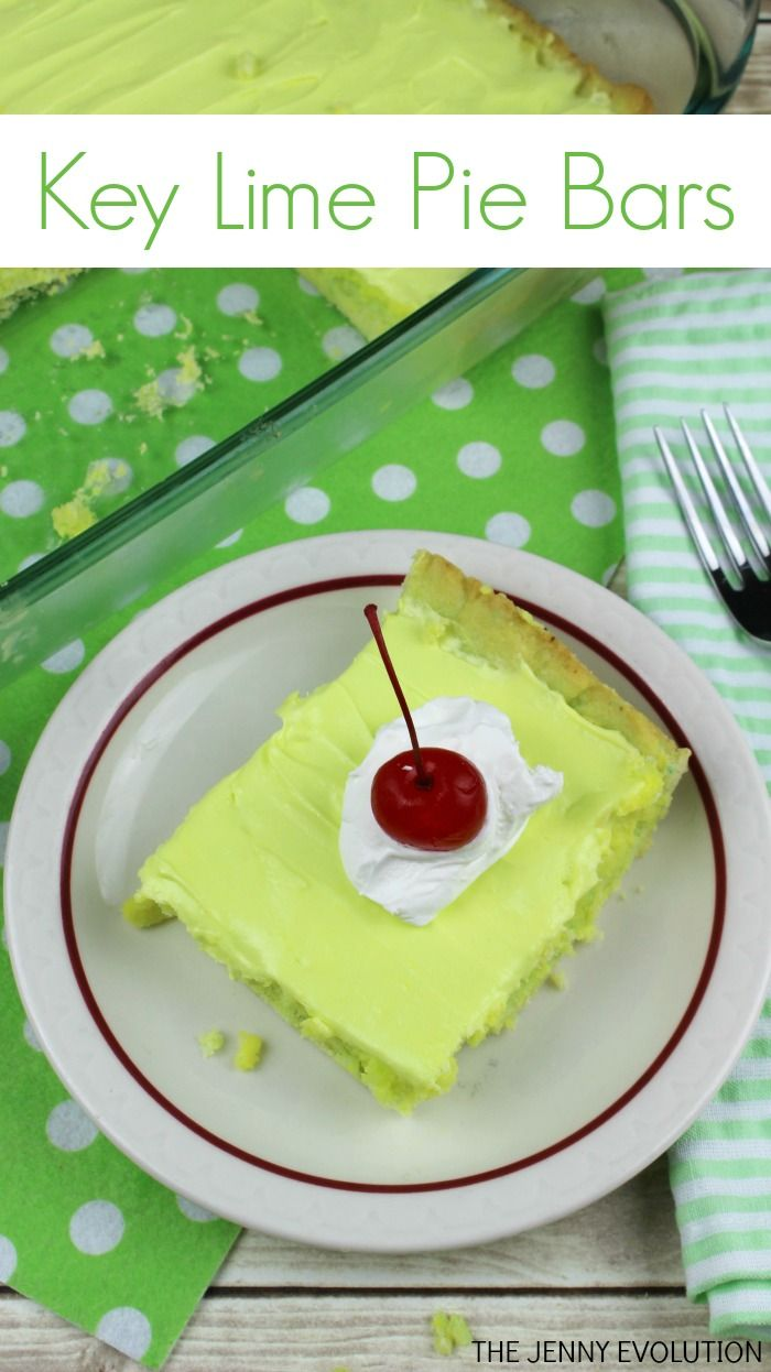 Key Lime Pie Bars Recipe - Just the right combo of sweet and tart