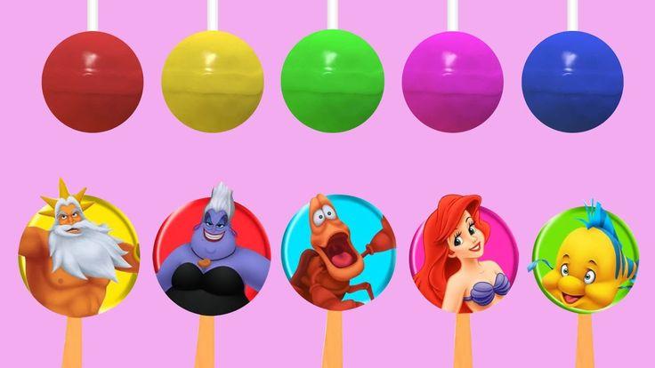 Finger Family Disney Ariel Lollipop   Top 10 Finger Family Collection   Finger Family Songs