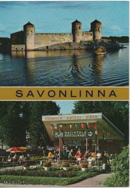 Postcard Savonlinna, Finland 1970s