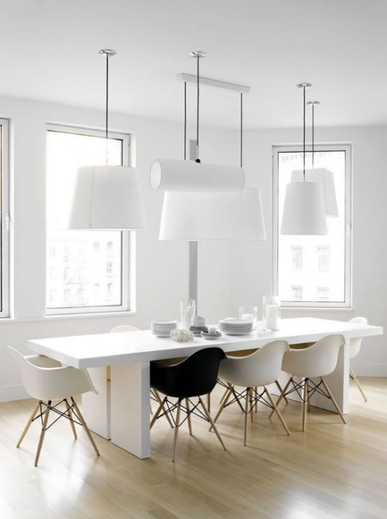 46 best house and home the dining room images on pinterest eten farm house styles and - Comedores minimalistas ...