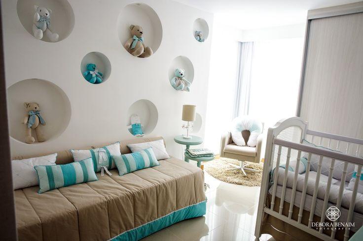 Tudo lindo em bege e Azul Tiffany neste quarto de bebê - by STUDIO NOBLE SAVAGE