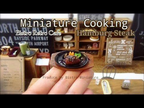 미니어쳐 햄버그 스테이크/miniature hamburg steaks - YouTube