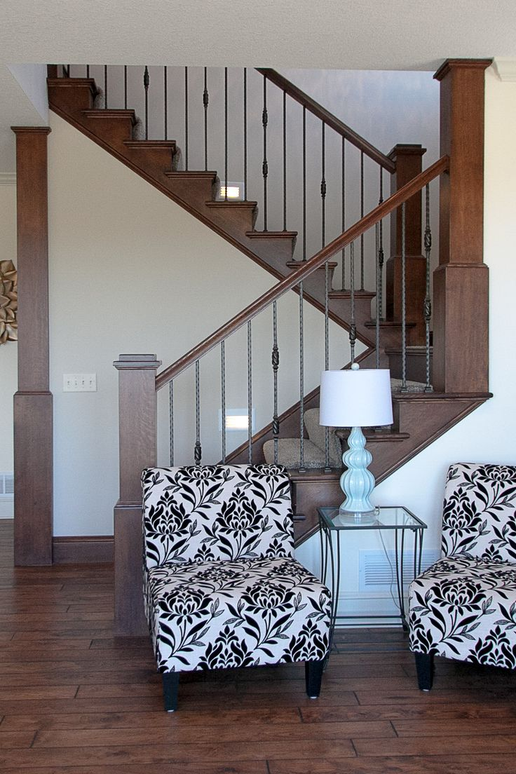 Rustic Flooring Wrought Iron Staircase Spindles Our Own