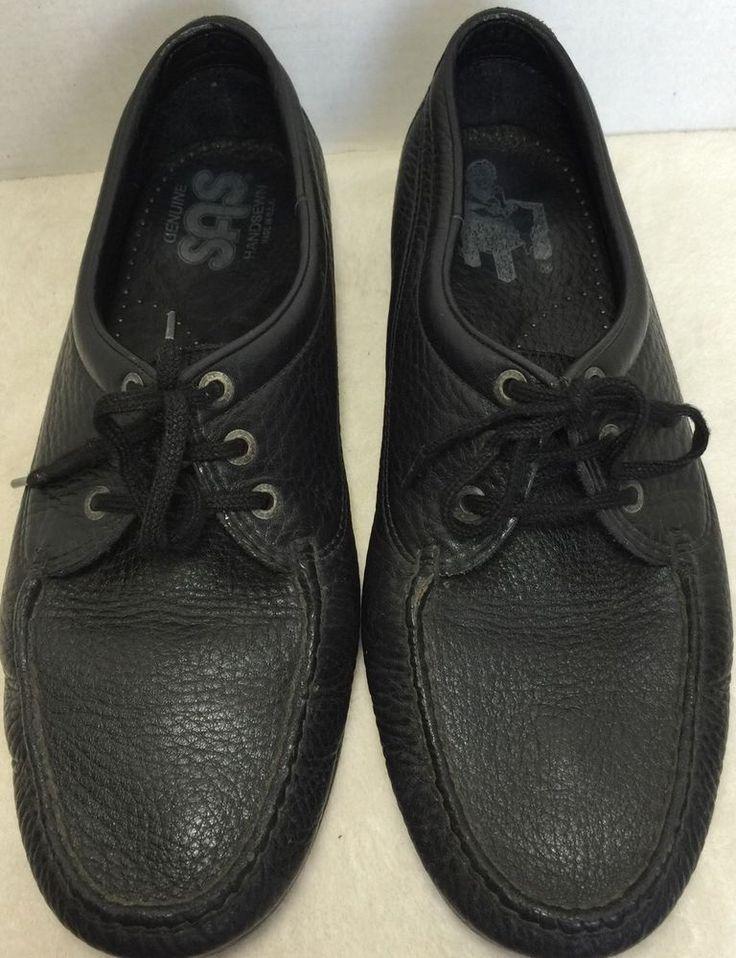SAS Men's Black Lace Up Oxfords Leather Comfort Walking