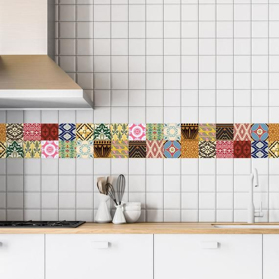 These Wall Tile Decals Covers Can Be Added To Liven Up Your Tiles