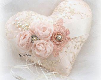 Cesta de la muchacha de flor boda anillo portador almohada