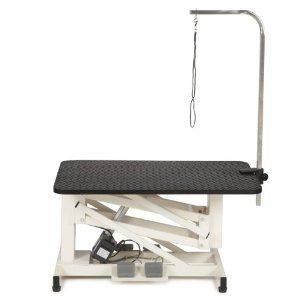 Master Equipment Z-Lift 42 by 24-Inch Electric Table, Ivory by Master Equipment. $551.28. Lifts and lowers from 19-inch to 39-1/2-inch. Lifts pets up to 160-pound. 1-inch thick tabletop. The Master Equipment Z-Lift Electric Grooming Table is an ultra-quiet, fully featured electric table for an unbeatable price! Heavy duty steel frame features an elegant ivory-colored finish and provides exceptional stability.. Save 15% Off!