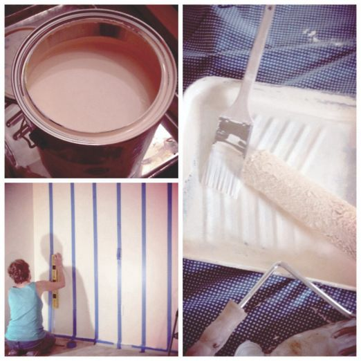 DIY vertical stripe wall #nursery