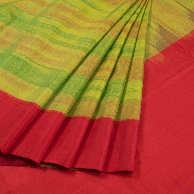 Handwoven Ikat Gadwal Kuttu Silk Saree 10020730 - AVISHYA.COM