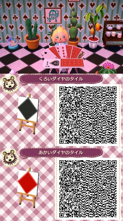 Diamond Tile Alice In Wonderland Pattern Acnl Town