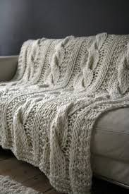 chunky cable knit throws