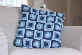 Mrs. Cuddles: Solid granny square pillow