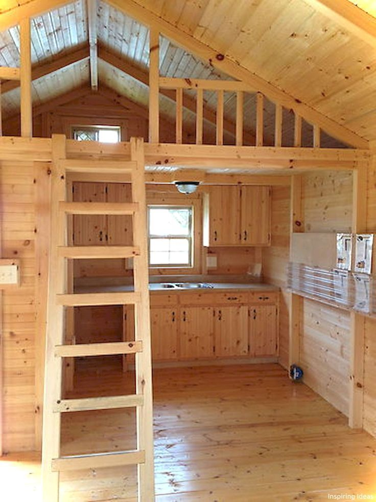 45 Gorgeous Cottage Kitchen Small Log Cabin Ideas
