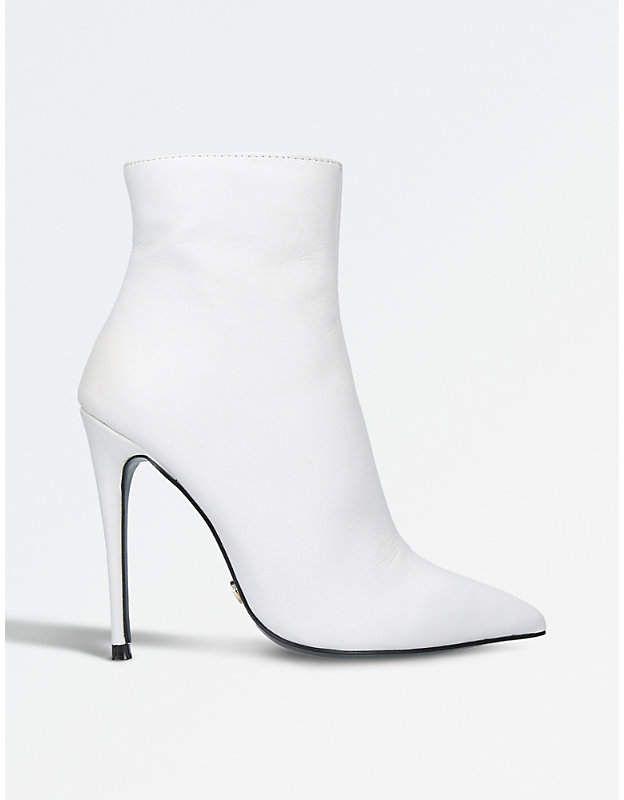 c63170f43aaf Kurt Geiger London Ladies White Ride Stiletto Ankle Boots