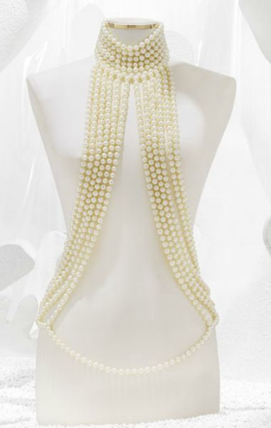 Gorgeous Chanel Pearl Harness.  I tried this on one time and regretted that I had to leave it in the store:(