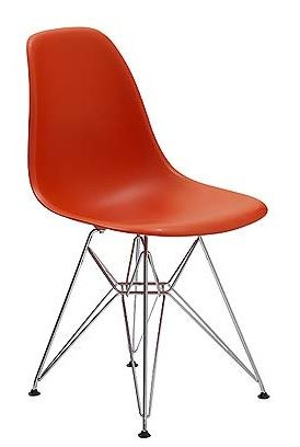 I love my red orange eames molded plastic chairs in my kitchen.