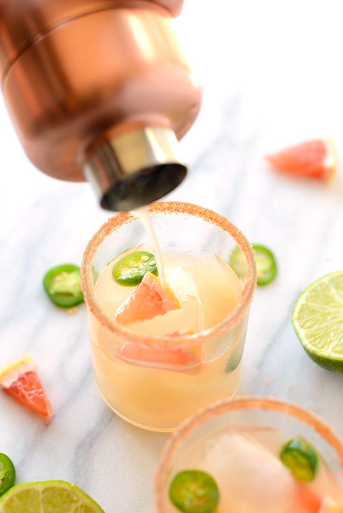 Spicy grapefruit jalapeño margarita!