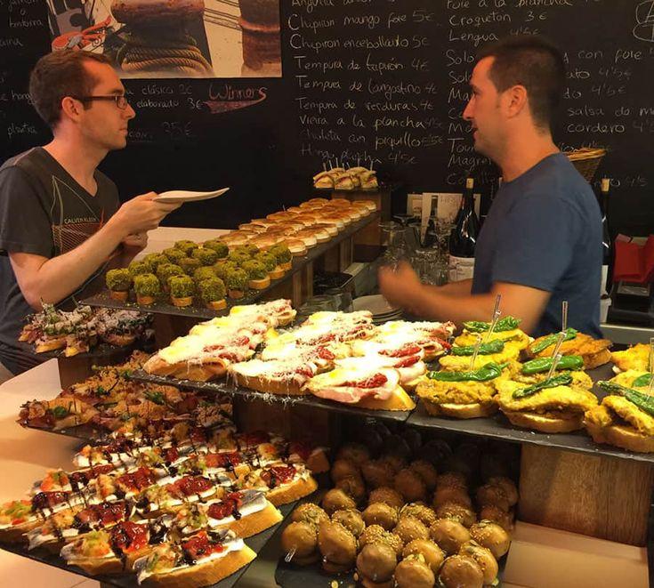 Pintxosbaren Bar Zeruko i Baskien.