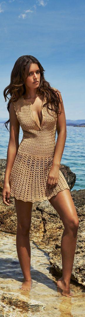 LADY LUXURY — Gold Knit Cover-up | LadyLuxury7
