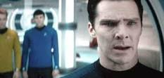 Benedict Cumberbatch as Khan in Star Trek movie.  BRILLIANT.